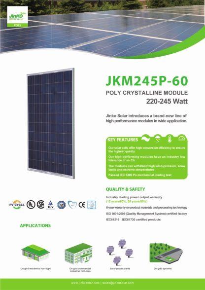 Jinko Solar Panel 250 Watt Poly