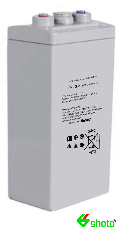 Shoto GFM 2V-600Ah AGM Cell