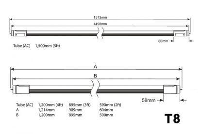 LED T8 SMD Tubelight