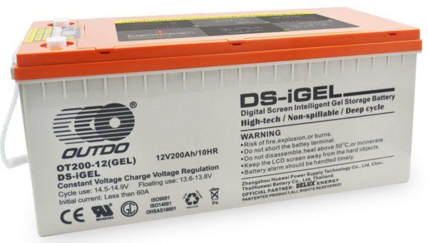 OUTDO iGel 200Ah-12V Battery