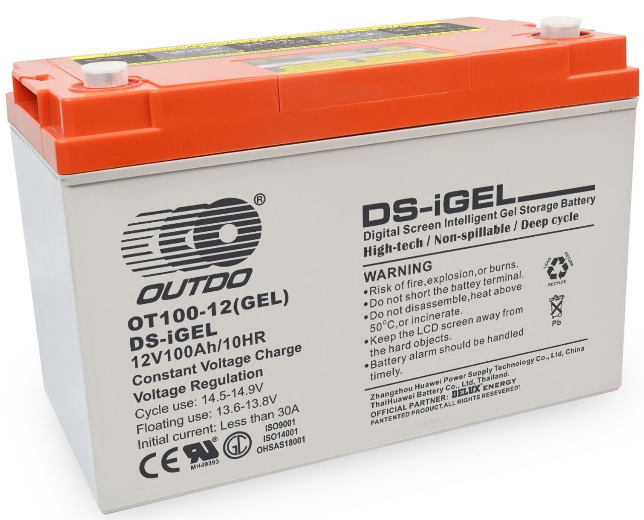 OUTDO iGel 100Ah-12V Battery