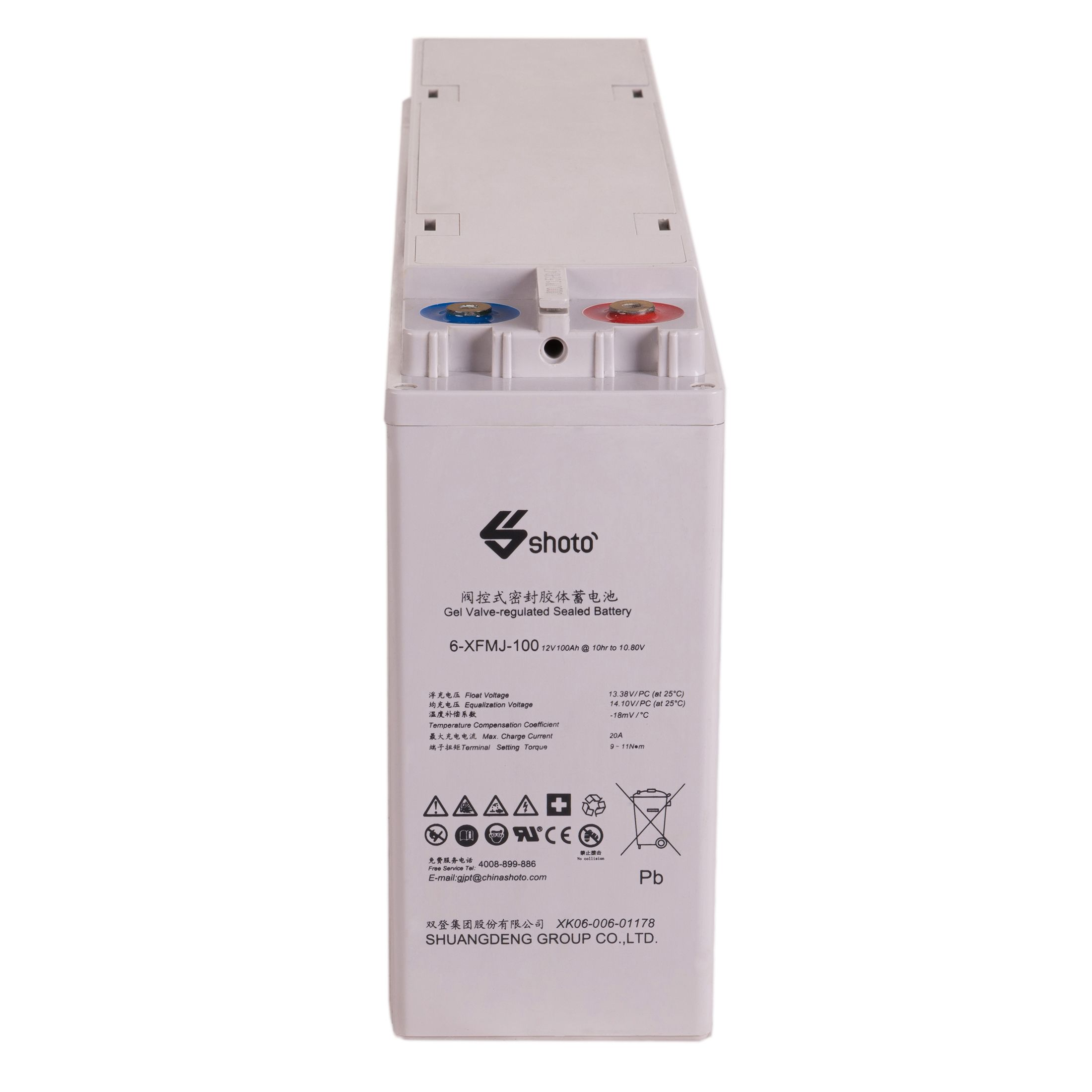 Shoto 6-XFMJ 12V 100Ah Gel Battery
