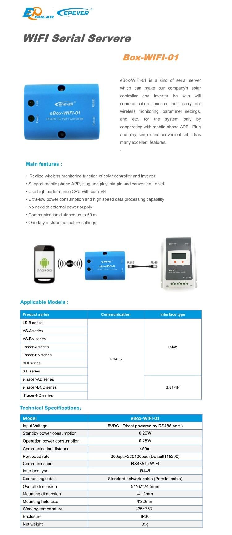 EPsolar-wifi-box
