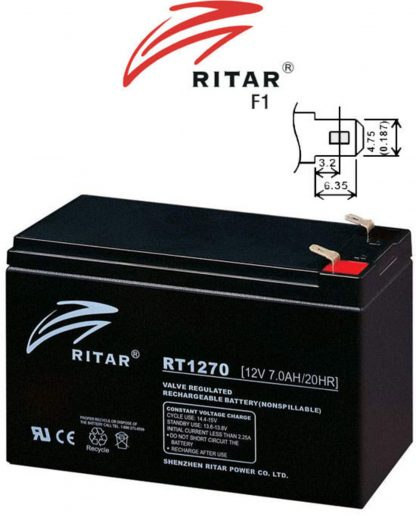 RITAR-RT1270-12V-7AH-AGM(SLA)-Battery
