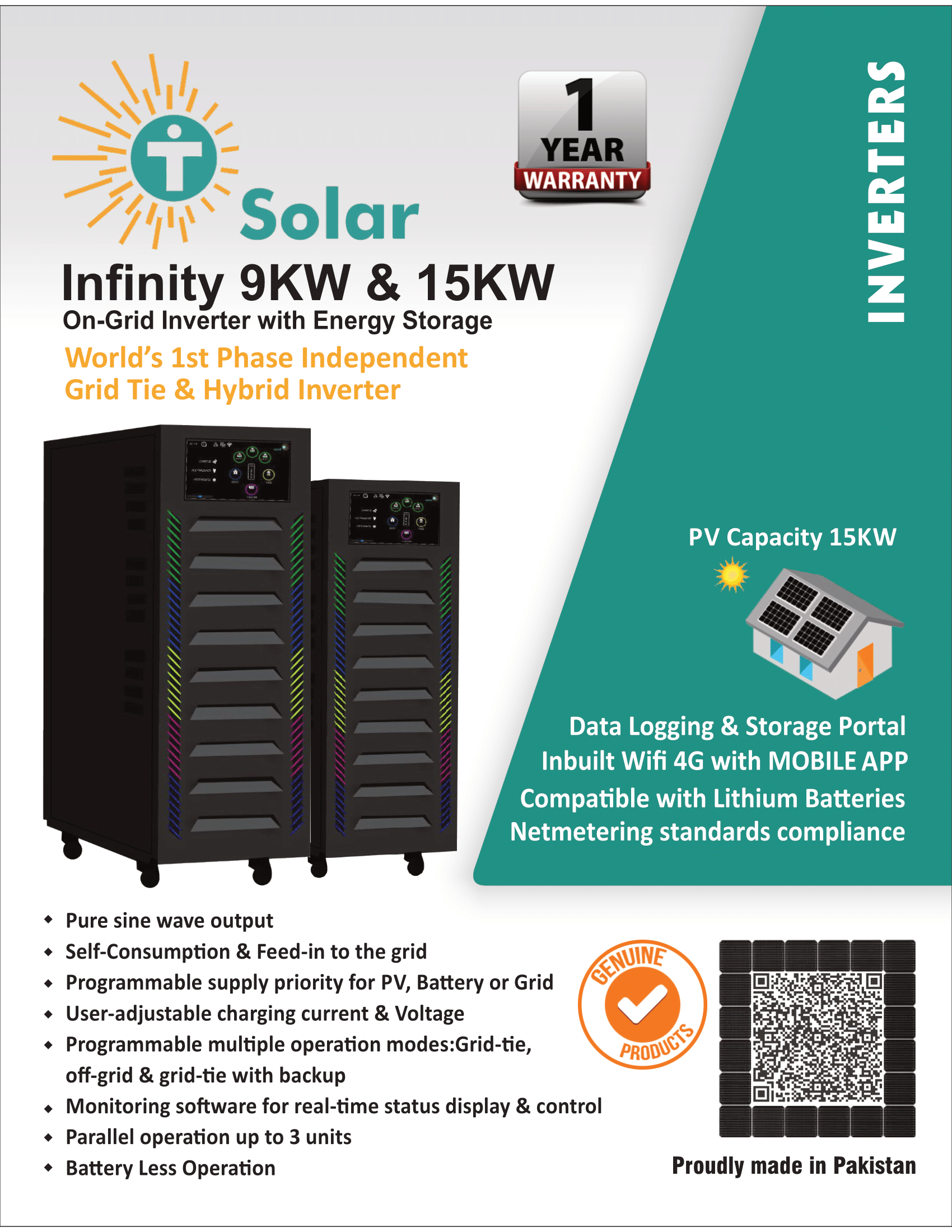 infinity 15KW-hybrid-off-grid-on-grid-inverter